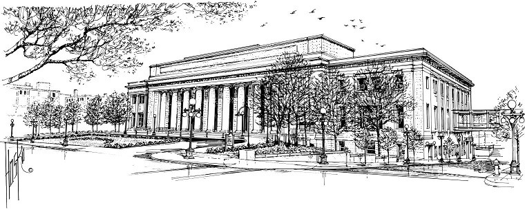 Union Depot                                                                                                                                                                       Saint Paul, Minnesota                                                                                                                                                                                                                                                                                                                                                                                                                                                                                                                                                                                                                            Pen and Ink - 1996